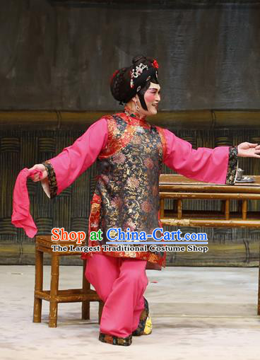 Chinese Cantonese Opera Woman Matchmaker Garment Liu Yi Delivers A Letter Costumes and Headdress Traditional Guangdong Opera Elderly Female Apparels Dress