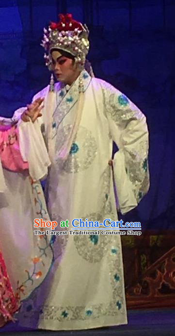 Story of the Violet Hairpin Chinese Guangdong Opera XIaosheng Apparels Costumes and Headpieces Traditional Cantonese Opera Li Yi Garment Gifted Scholar Clothing