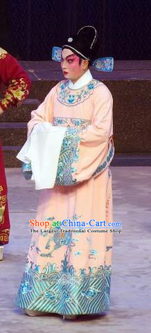 Story of the Violet Hairpin Chinese Guangdong Opera Gifted Scholar Apparels Costumes and Headpieces Traditional Cantonese Opera Xiaosheng Garment Li Yi Clothing