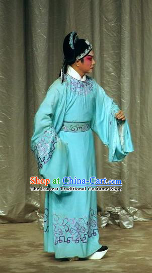 Story of the Violet Hairpin Chinese Guangdong Opera Scholar Apparels Costumes and Headpieces Traditional Cantonese Opera Childe Garment Gifted Youth Li Yi Clothing