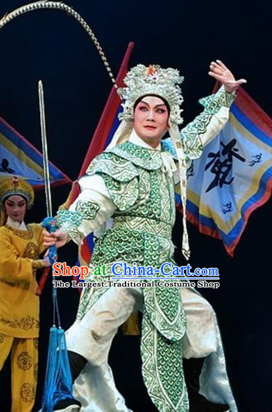 Yuan Yang Sword Chinese Guangdong Opera Wusheng Apparels Costumes and Headpieces Traditional Cantonese Opera Martial Male Garment Warrior Qiu Jianghai Clothing