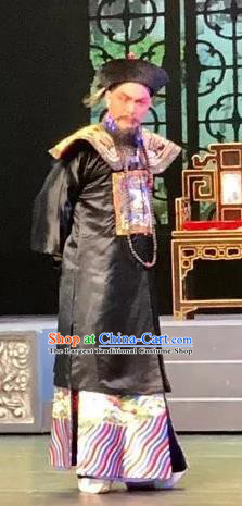 Barwo Guild Chinese Guangdong Opera Qing Dynasty Official Apparels Costumes and Headpieces Traditional Cantonese Opera Garment Minister Li Futai Clothing