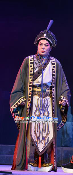 King of Nanyue Kingdom Chinese Guangdong Opera Duke Zhao Tuo Apparels Costumes and Headpieces Traditional Cantonese Opera Young Male Garment Lord Clothing