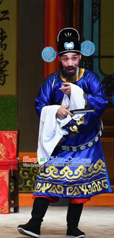 Chinese Guangdong Opera Clown Apparels Costumes and Headpieces Traditional Cantonese Opera Minister Garment Magistrate Jia Clothing