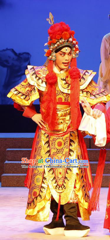 The Lotus Lantern Chinese Guangdong Opera General Apparels Costumes and Headpieces Traditional Cantonese Opera Er Lang God Garment Clothing