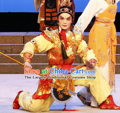 The Lotus Lantern Chinese Guangdong Opera Liu Chenxiang Apparels Costumes and Headpieces Traditional Cantonese Opera Wa Wa Sheng Garment Martial Male Clothing