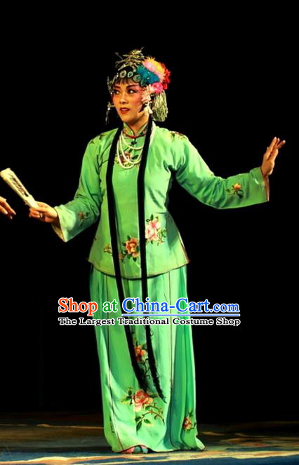 Chinese Sichuan Opera Highlights Young Mistress Garment Costumes and Headdress Shoot Eagle Traditional Peking Opera Hua Tan Dress Actress Apparels