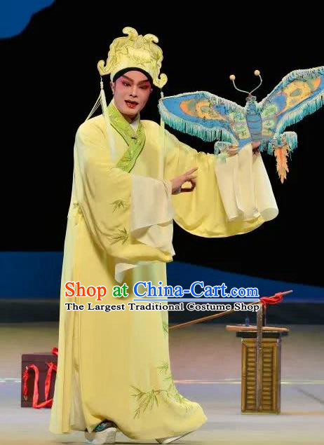 Search the College Chinese Guangdong Opera Niche Apparels Costumes and Headpieces Traditional Cantonese Opera Scholar Garment Xiaosheng Zhang Yimin Clothing
