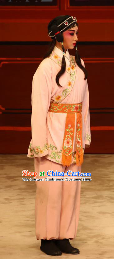 The Lotus Lantern Chinese Guangdong Opera Wa Wa Sheng Apparels Costumes and Headpieces Traditional Cantonese Opera Young Boy Garment Little Scholar Qiu Er Clothing