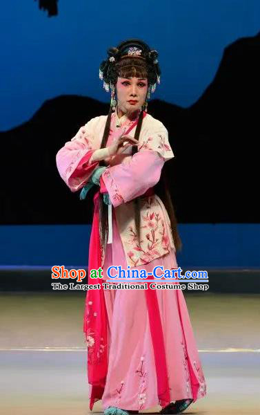 Chinese Cantonese Opera Maidservant Garment Search the College Costumes and Headdress Traditional Guangdong Opera Young Lady Apparels Diva Cui Lian Dress