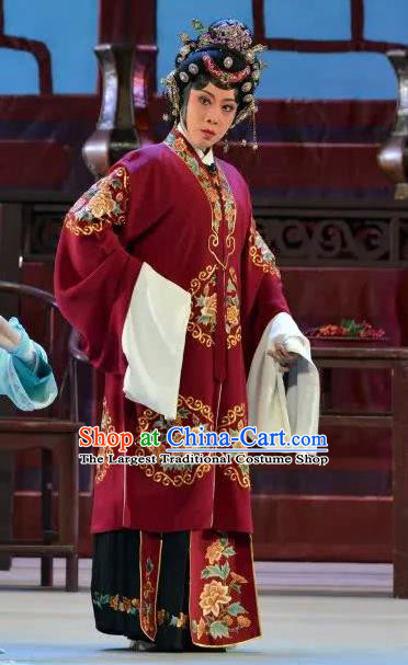 Chinese Cantonese Opera Rich Dame Garment Search the College Costumes and Headdress Traditional Guangdong Opera Elderly Female Apparels Countess Dress