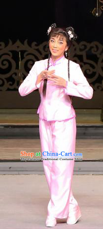 Chinese Cantonese Opera Young Lady Garment Yang Cuixi Costumes and Headdress Traditional Guangdong Opera Actress Apparels Diva Dress