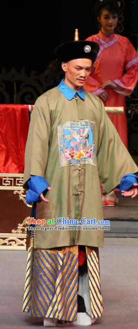 Yang Cuixi Chinese Guangdong Opera Official Apparels Costumes and Headpieces Traditional Cantonese Opera Minister Garment Clothing