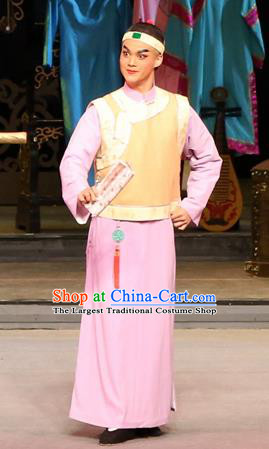 Yang Cuixi Chinese Guangdong Opera Scholar Liu Mingde Apparels Costumes and Headpieces Traditional Cantonese Opera Xiaosheng Garment Composer Clothing