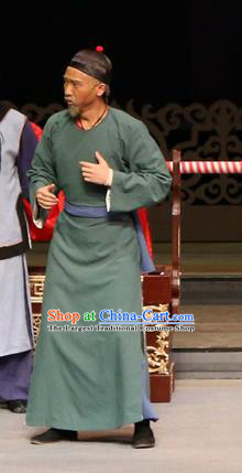 Yang Cuixi Chinese Guangdong Opera Elderly Male Apparels Costumes and Headpieces Traditional Cantonese Opera Old Man Garment Clothing