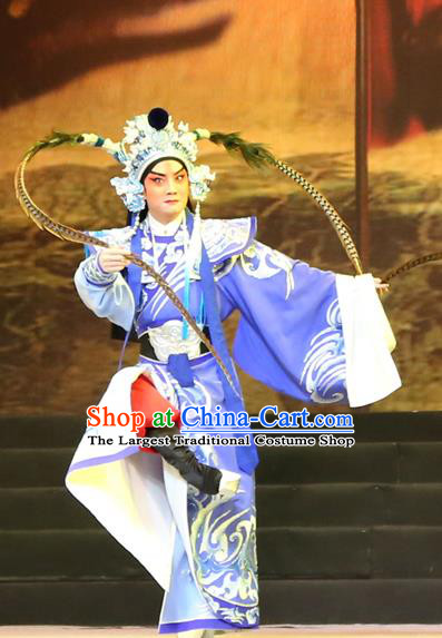 Gao Emperor of Han Chinese Guangdong Opera Wusheng Apparels Costumes and Headpieces Traditional Cantonese Opera Martial Male Garment Takefu Clothing