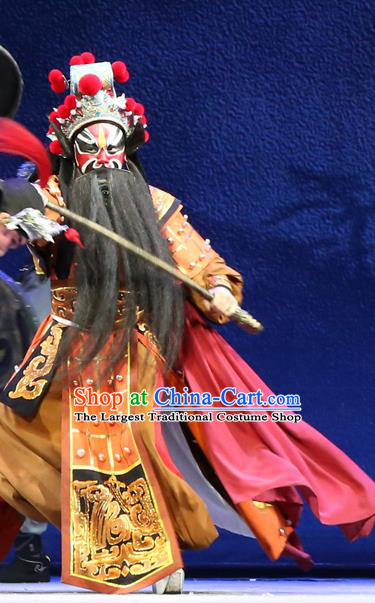 Gao Emperor of Han Chinese Guangdong Opera Jing Apparels Costumes and Headpieces Traditional Cantonese Opera Martial Male Garment General Clothing