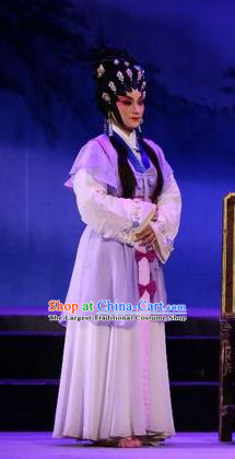 Chinese Cantonese Opera Country Woman Garment Costumes and Headdress Traditional Guangdong Opera Actress Apparels Diva Bai Lixiang Dress