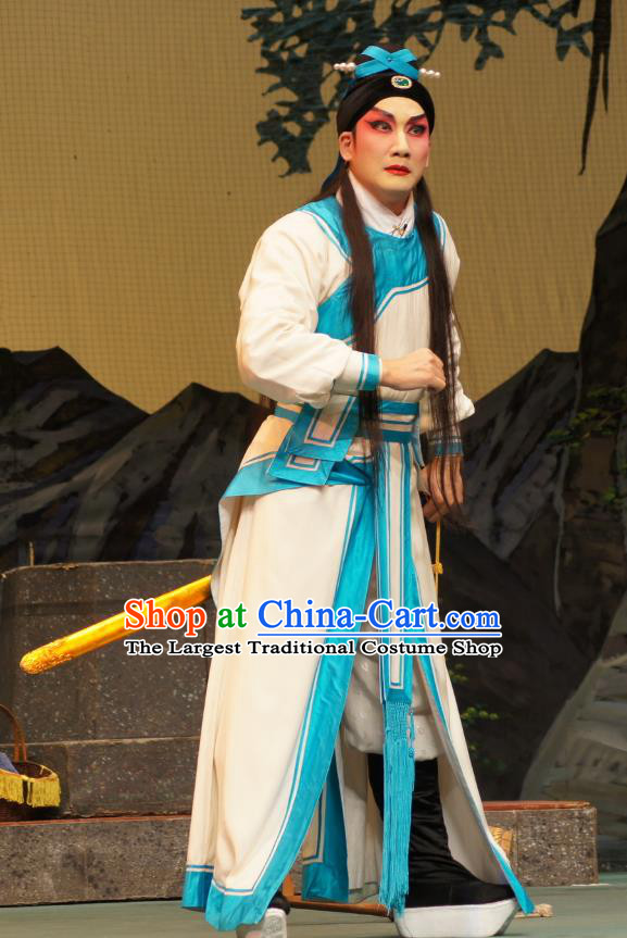Emperor and the Village Girl Chinese Guangdong Opera Xiaosheng Apparels Costumes and Headpieces Traditional Cantonese Opera Young Man Garment Prince Kang Clothing