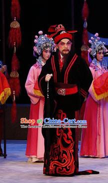 Zhaojun Frontier Song Chinese Guangdong Opera Official Wang Long Apparels Costumes and Headwear Traditional Cantonese Opera Minister Garment Clothing