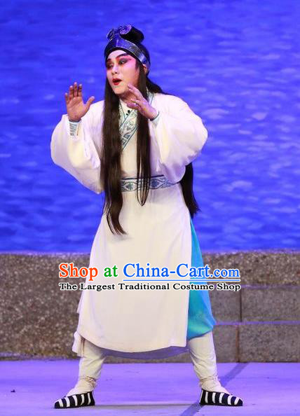 The Mad Monk by the Sea Chinese Guangdong Opera Monk Apparels Costumes and Headwear Traditional Cantonese Opera Wu Xiaopeng Garment Buddhist Clothing