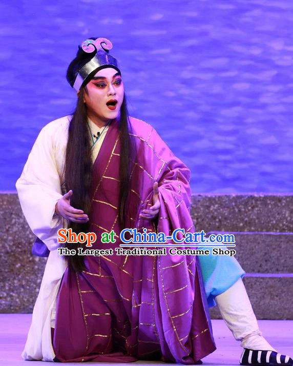 The Mad Monk by the Sea Chinese Guangdong Opera Monk Apparels Costumes and Headwear Traditional Cantonese Opera Wu Xiaopeng Garment Buddhist Cassock Clothing