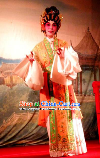 Chinese Cantonese Opera Young Female Garment Love in the Red Plum Costumes and Headdress Traditional Guangdong Opera Actress Apparels Consort Li Huiniang Dress