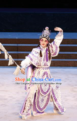 Bai Tu Ji Chinese Guangdong Opera Young Male Apparels Costumes and Headwear Traditional Cantonese Opera Garment General Liu Chengyou Clothing
