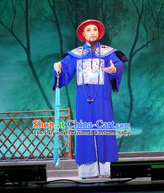Zhuang Yuan Lin Zhaotang Chinese Guangdong Opera Minister Apparels Costumes and Headwear Traditional Cantonese Opera Official Garment Qing Dynasty Clothing