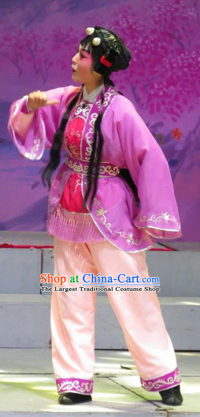 The Strange Stories Chinese Guangdong Opera Young Boy Apparels Costumes and Headwear Traditional Cantonese Opera Wa Wa Sheng Garment Livehand Clothing