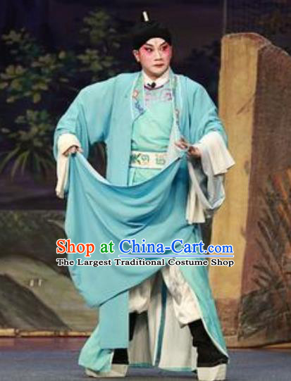 Chinese Guangdong Opera Du Yuanlong Apparels Costumes and Headwear Traditional Cantonese Opera Wusheng Garment Martial Male Clothing