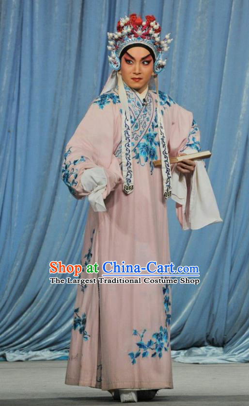 The Sword Chinese Guangdong Opera Young Male Apparels Costumes and Headwear Traditional Cantonese Opera Wusheng Garment Wang Han Clothing