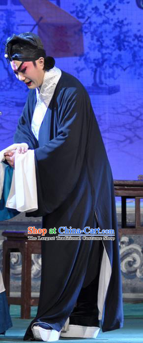 Qing Hua Pan Jinlian Chinese Guangdong Opera Wusheng Apparels Costumes and Headwear Traditional Cantonese Opera Martial Male Garment Hero Wu Song Clothing