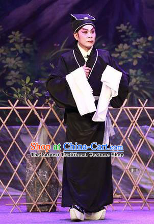 Chinese Guangdong Opera Xiaosheng Pang Qiao Apparels Costumes and Headwear Traditional Cantonese Opera Young Male Garment Niche Clothing