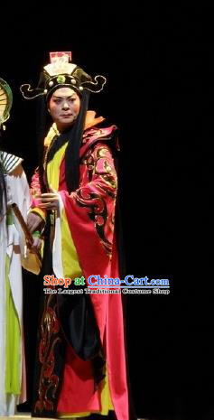 Nan Yue Gong Ci Chinese Guangdong Opera King Zhao Tuo Apparels Costumes and Headwear Traditional Cantonese Opera Duke Garment Lord Clothing