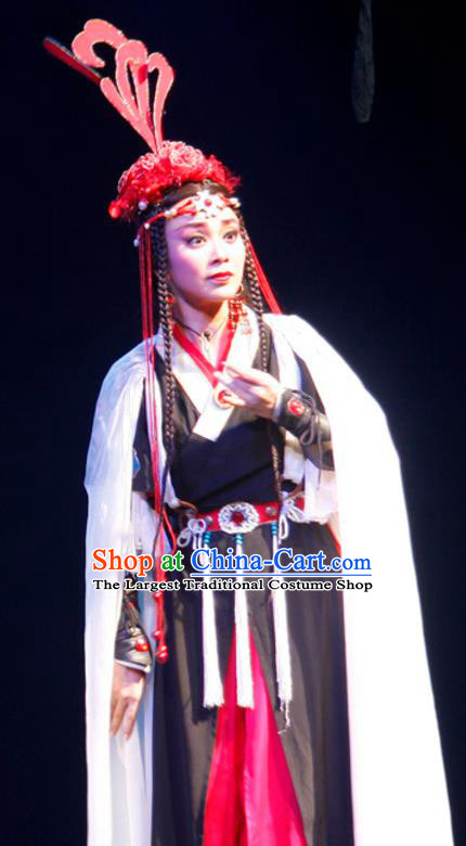 Chinese Historical Drama Princess Hu Die Ancient Miao Nationality Young Lady Garment Costumes Traditional Ethnic Girl Dance Dress Apparels and Headdress
