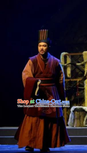 Chinese Traditional Northern Wei Dynasty Minister Apparels Costumes Historical Drama Bei Wei Feng Yang Ancient Official Garment Clothing and Headwear