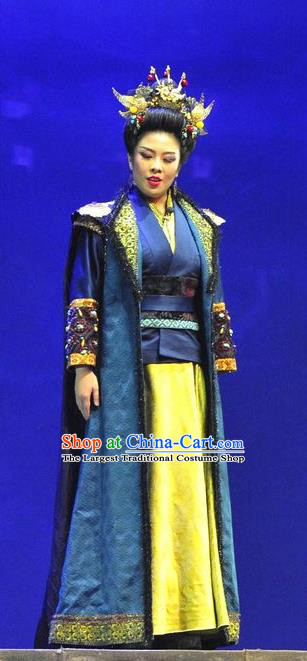 Chinese Historical Drama Bei Wei Feng Yang Ancient Queen Garment Costumes Traditional Northern Wei Dynasty Empress Dowager Dress Court Woman Apparels and Headdress