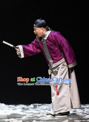 Chinese Traditional Qing Dynasty Elderly Male Apparels Costumes Historical Drama Da Qing Xiang Guo Ancient Landlord Garment Clothing and Headwear