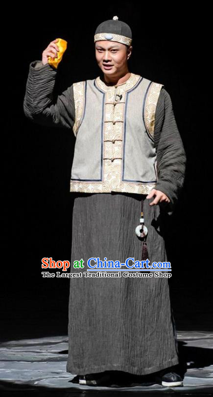Chinese Traditional Qing Dynasty Prince Apparels Costumes Historical Drama Da Qing Xiang Guo Ancient Young Male Garment Noble Childe Clothing and Headwear