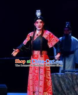 Yi Shui Han Chinese Guangdong Opera Martial Male Apparels Costumes and Headwear Traditional Cantonese Opera Wusheng Garment Hero Jing Ke Clothing