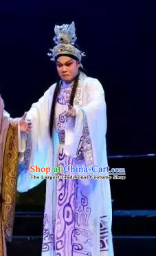 Yi Shui Han Chinese Guangdong Opera Crown Apparels Costumes and Headwear Traditional Cantonese Opera Xiaosheng Garment Young Male Clothing