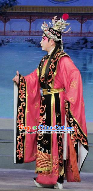 Luo Shui Qing Meng Chinese Guangdong Opera Cao Pi Apparels Costumes and Headwear Traditional Cantonese Opera Duke Garment King Clothing