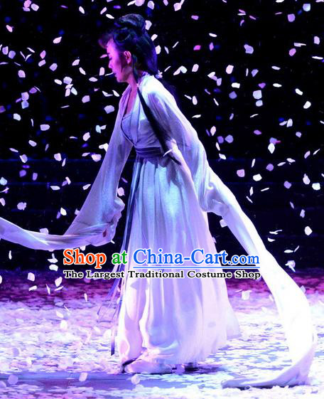 Chinese Historical Drama Phoenix Hairpin Ancient Actress Garment Costumes Traditional Stage Show Dress Young Mistress Tang Wan Apparels and Headdress