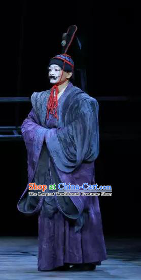 Chinese Traditional Stage Performance Actor Apparels Costumes Historical Drama The Prince of Lanling Ancient Clown Garment Clothing and Headwear