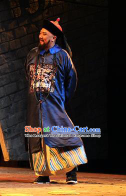 Chinese Traditional Qing Dynasty Official Zhang Zhidong Clothing Stage Performance Historical Drama Governor Apparels Costumes Ancient Grand Coordinator Garment and Headwear
