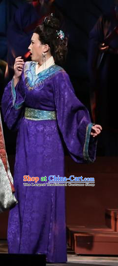 Chinese Historical Drama King of Nanyue Ancient Countess Garment Costumes Traditional Stage Show Rani Dress Han Dynasty Apparels and Headpieces