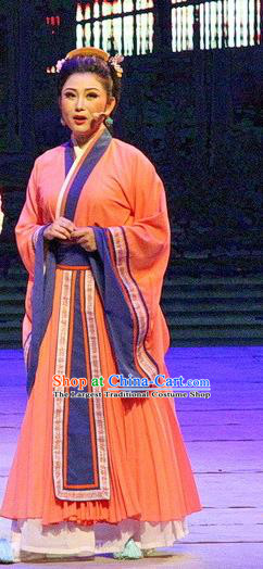 Chinese Historical Drama Ballast Stone Ancient Young Mistress Garment Costumes Traditional Stage Show Actress Dress Three Kingdoms Period Woman Apparels and Headpieces