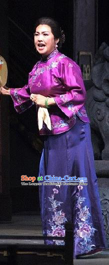 Chinese Historical Drama Autumn Begins Ancient Madame Garment Costumes Traditional Stage Show Dress Qing Dynasty Rich Female Apparels and Headpieces