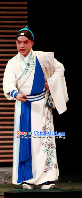 Cao Min Song Shijie Chinese Sichuan Opera Wusheng Apparels Costumes and Headpieces Peking Opera Highlights Martial Male Garment Swordsman Clothing